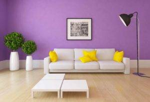 purple lounge with white space