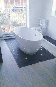 laminate flooring in bathroom