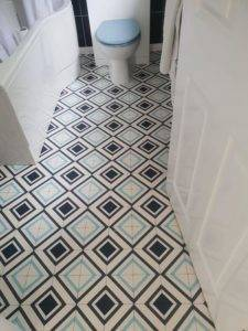 small tiled floor