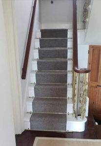 brass staircase bottom