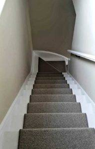 carpet down the stairs