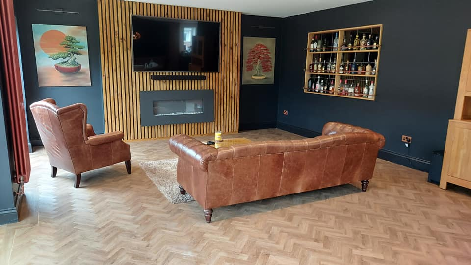 completed wood flooring